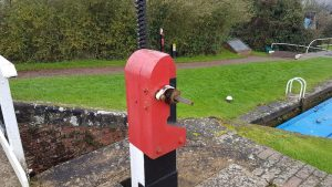 Operate red paddle at Foxton Locks