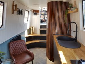 Looking towards the back of Water Vole boutique narowboat