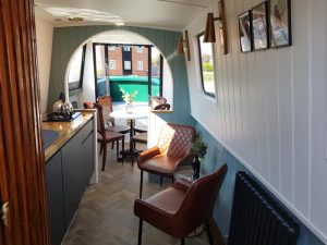 Inside the electric day boat at Union Wharf